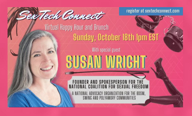 NCSF's Susan Wright to Guest on Sunday's 'Sex Tech Connect'