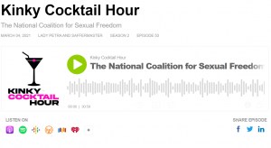 Kinky Cocktail Hour interviews NCSF