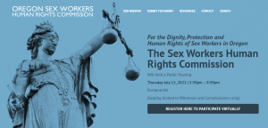 For the Dignity, Protection and Human Rights of Sex Workers in Oregon